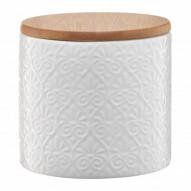 Ambition Pojemnik ceramiczny Tuvo w mozaike z bambusową pokrywką 670 ml
