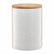 Ambition Pojemnik ceramiczny Tuvo w mozaike z bambusową pokrywką 1110 ml