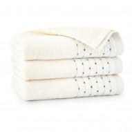 Zwoltex Ręcznik z Bawełny Egipskiej Oscar Kremowy 30x50 50% Promocja