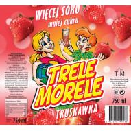 Trele Morele 0,75l TiM - smak truskawkowy
