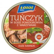 Łosoś Ustka Tuńczyk w sosie pomidorowym z warzywami 170 g