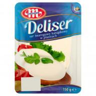 Mlekovita Deliser Ser twarogowy kanapkowy w plastrach 150 g