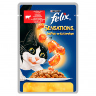Felix Sensations Karma dla kotów z wołowiną w galaretce z pomidorami 100 g