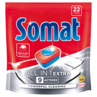 Somat All in 1 Extra Tabletki do mycia naczyń w zmywarkach 400,4 g (22 x 18,2 g)