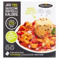 Proporcja Kurczak w sosie myśliwskim z kaszą bulgur i warzywami 300 g